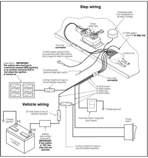 kwikee electric step wiring diagram fuse box and wiring