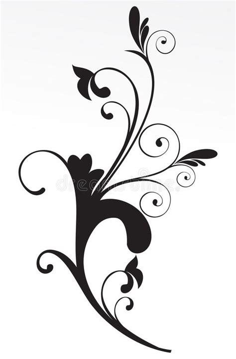 abstracte bloemen zwart witte achtergrond vector illustratie illustratie bestaande uit