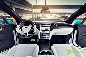 Custom Blue Tesla Model X - White Interior – TSportline.com - Tesla Model S, X & 3 Accessories