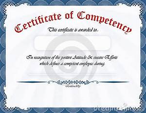 certificate of competency royalty free stock photo image With competency certificate template