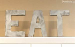 diy rustic faux metal letters farmhouse 40 With diy metal letters
