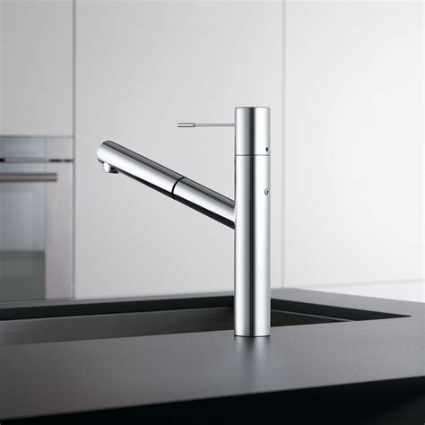 single handle pull out kitchen faucet k b galleries kwc ono single lever mixer w pull out aerator