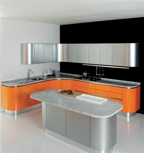 cuisine orange et noir awesome cuisine moderne orange avec marbre galaxie noir