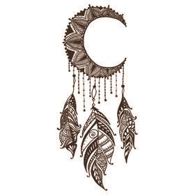 create  customize   crescent moon dreamcatcher tattoo  fully custom