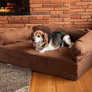 snoozer luxury dog sofa dog couch microsuede fabric With dog sofa bed