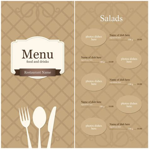 blank menu template free download 14 menu design templates free download images menu