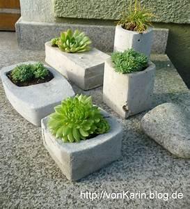 Basteln Mit Zement : pflanzgef e aus beton selbstgemacht concrete planters diy beton pinterest basteln mit ~ Frokenaadalensverden.com Haus und Dekorationen