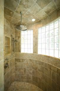 Master Bath Shower With Extensive Use Of Onyx Beach