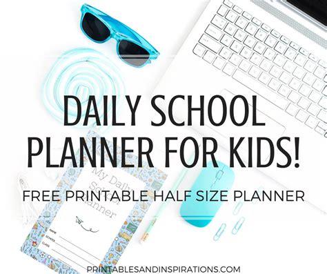 daily school planner  kids