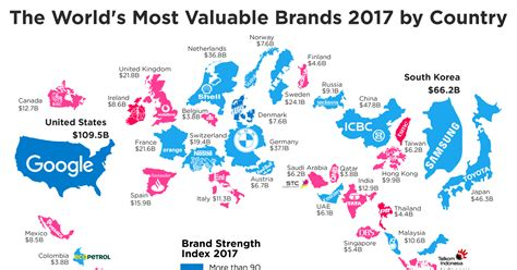 map reveals  top  brands   country