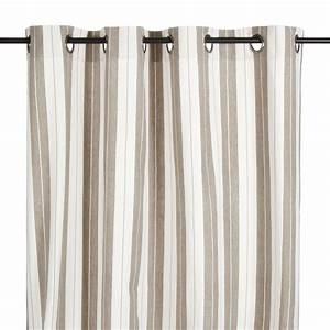 Rideau En Lin Blanc : rideau illets en coton ray lin et blanc belluzzi ~ Melissatoandfro.com Idées de Décoration
