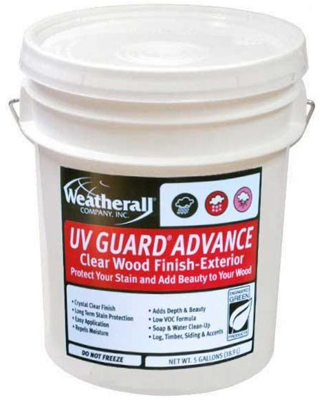 uv guard advance clear wood finish weatherall