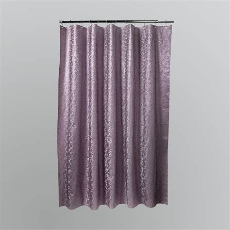h20 metallic embossed lace shower curtain