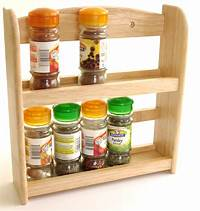 wooden spice racks Wooden 2 Tier Spice Rack Holder holds upto 10 spice and ...