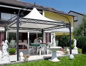 Pavillon Metall Wetterfest : gartenpavillon metall mit festem dach ~ Whattoseeinmadrid.com Haus und Dekorationen
