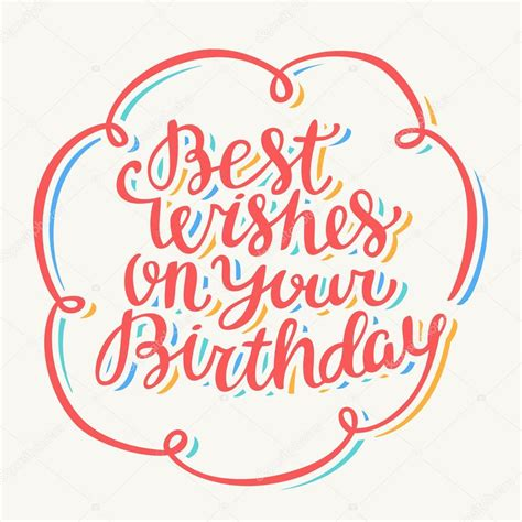 best wishes for best wishes on your birthday stock vector 169 alexgorka