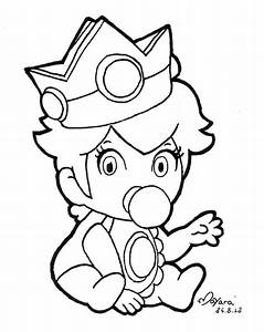 Baby Princess Peach Coloring Pages - AZ Coloring Pages