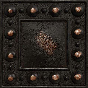 4 x 4 Dots Decorative Metal Insert   Antique Bronze ? DEKO
