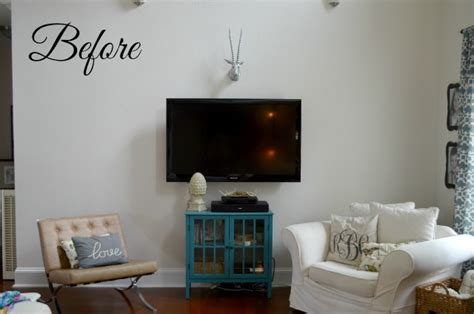 hometalk faux built  living room shelves tutorial