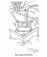 Coloring Plow Snow Pages Winter Sheets Printable Activity Season Scene Colouring Drawing Nature Scenery Template Templates Scenes Awesome Site Bluebonkers sketch template