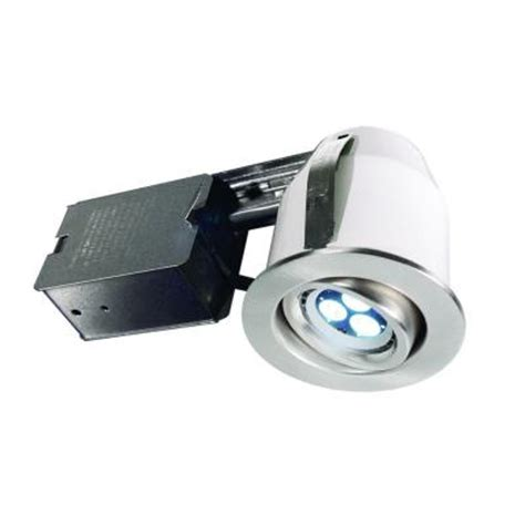bazz 303 series 3 in brushed chrome led recessed lighting