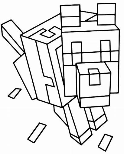 Dog Minecraft Coloring Animal Topcoloringpages