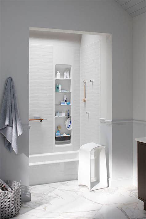 luxury shower wall panels accessories  storage system