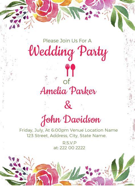 wedding party invitation  images wedding