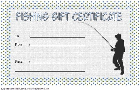 fishing gift certificate editable templates  latest