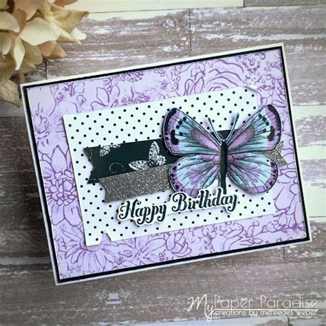 Stampin' Up butterfly gala botanical butterfly dsp