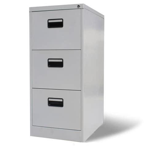 rangement documents bureau armoire de bureau en métal à 3 tiroirs gris meuble