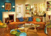 bohemian living room Bohemian Style Interiors, Living Rooms and Bedrooms