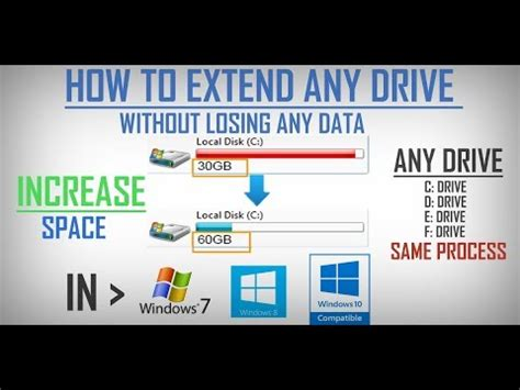 how to extend c drive in windows 7 without any software in