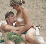 Beach hunters mature couple of lovers