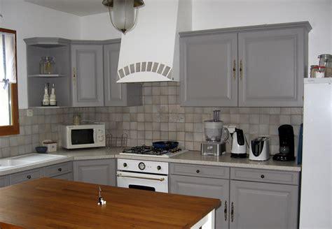 davaus cuisine gris et blanc et bois avec des