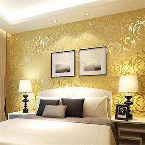 modern bedroom interior decorating ideas with beautiful With bedroom paint and wallpaper ideas