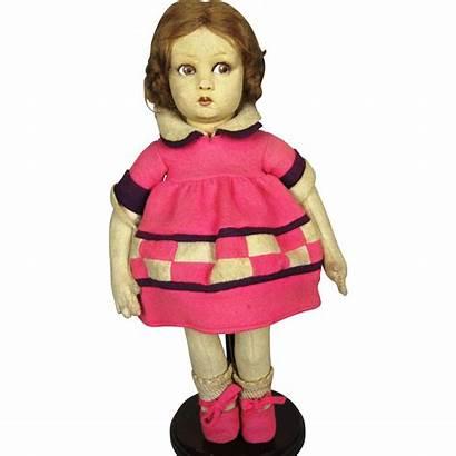 Doll Felt Lenci Raynal Cloth French Ruby