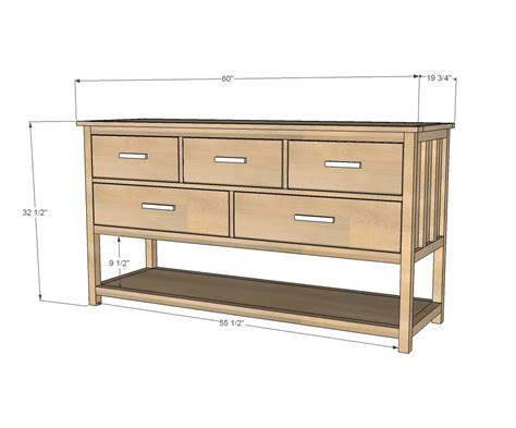 ana white wide cabin dresser metal  diy projects