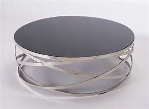 Table Basse Metal Ronde : table basse ronde saxo m tal chrom mobilier ~ Teatrodelosmanantiales.com Idées de Décoration