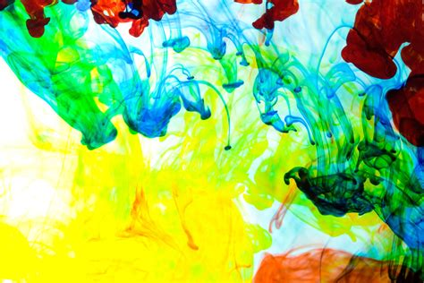 photograph food coloring  dye dropped  water