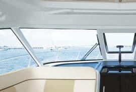 Boat Windshield Frame Paint by Tiara 3600 Coronet Power Motoryacht