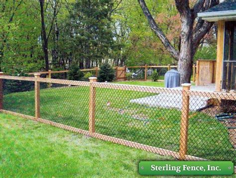 Backyard Fence Options by California Chain Link Fence Chain Link With Wooden Posts
