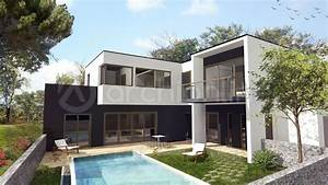 plan maison moderne 2 etages 100m2 4 chambres maison moderne With plan maison etage 100m2 11 arts and crafts architecture plans de villas