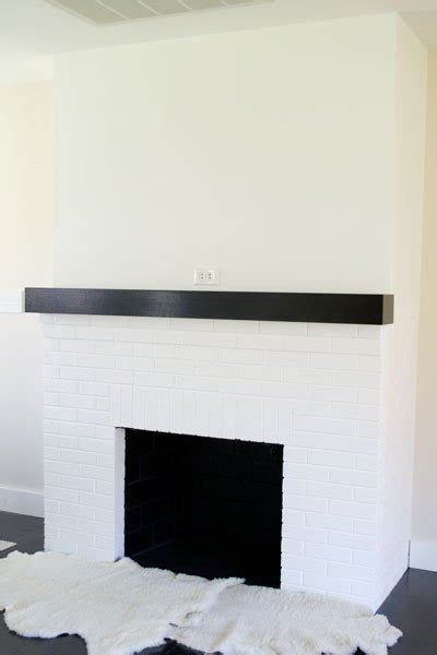 painting  red brick fireplace white hometalk