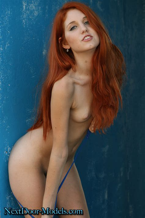 Next Door Models Naked Redhead At