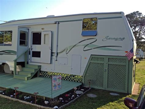 fifth wheels with patio decks motorcycle review and