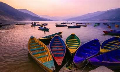 Phewa Lake Nepal Pokhara Boat Relax Located
