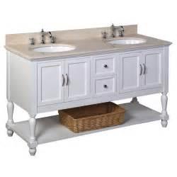 kbc beverly 60 quot double bathroom vanity set reviews wayfair