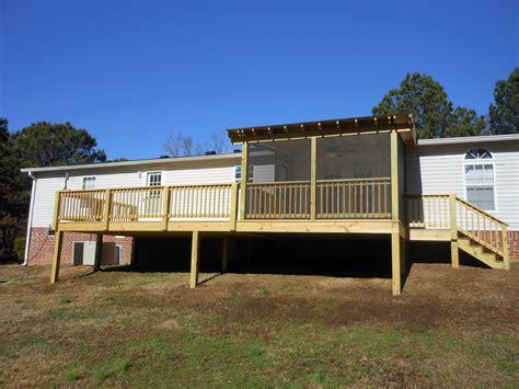porches and decks mobile home porch plans studio design gallery best