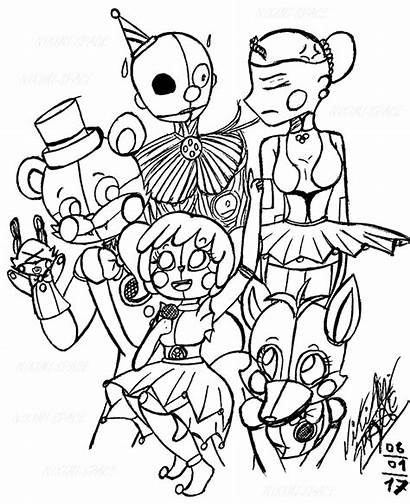 Ballora Coloring Pages Sister Location Fnf Fnaf